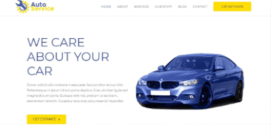 car repair website example